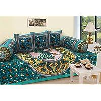 RajasthaniKart Traditional 6 Piece Diwan Set - 100% Cotton