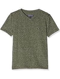 4b28cb690543 Tommy Hilfiger Jungen T-Shirt AME Basic Jaspe Vn Tee S S