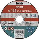 KWB 49711922 Pack Discos extrafinos Cut-Fix, 125 x 1 mm, Set de 10 Piezas