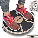 POWRX Stepper Houten Balance Board I Stepbankje voor proprioceptieve training en fysiotherapie incl. Workout I-therapiegyrosc