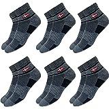KOPNHAGN Vintage Stripes Men's Premium Cotton Cushion Sports Socks, Pack of 6 (UK Foot Size: 7-11)