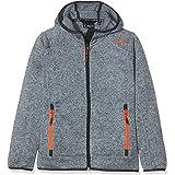 CMP Knit Tech mélange Fleece Jacket with Hood Chaqueta, Chico
