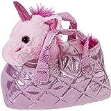 Heunec 501577 Einhorn in Tasche 20 cm, rosa