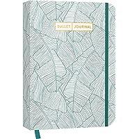 """Bullet Journal """"Jungle Green"""" 05: Mit Punkteraster, Seiten für Index, Key und Future Log sowie Lesebändchen, praktischem…"""