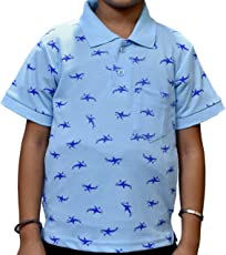 Overdrivee Casual Printed Polo T-Shirt for Boys