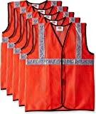 Source India Safari Pro 2' Inch Reflective Safety Jacket, Orange, Mesh Type, Set of 5