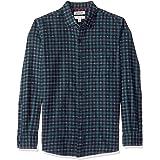 Marca Amazon - Goodthreads – Camisa jaspeada y cepillada de manga larga, corte entallado para hombre