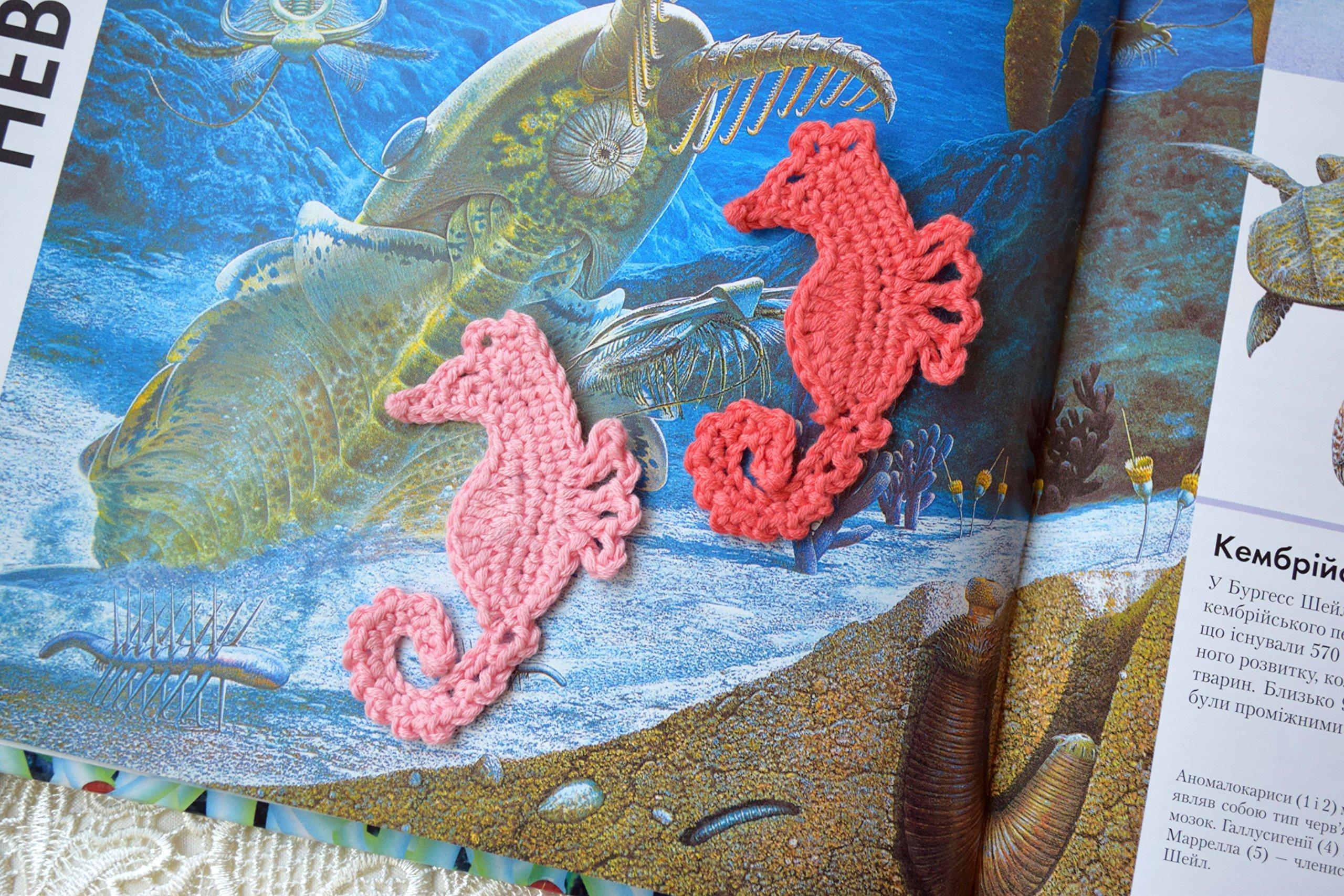 Crochet appliques seahorse sewing craft beach theme embellishment
