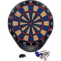 Kings Dart Dartscheibe Hobby   In & Outdoor   Elektronisches Dartboard   4 Spieler   Inkl. 6 Dartpfeile   21…