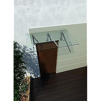 Vordächer Baustoffe & Holz Glasvordach 200x90 Cm Vordach Haustür Türvordach Türdach Klarglas Vsg