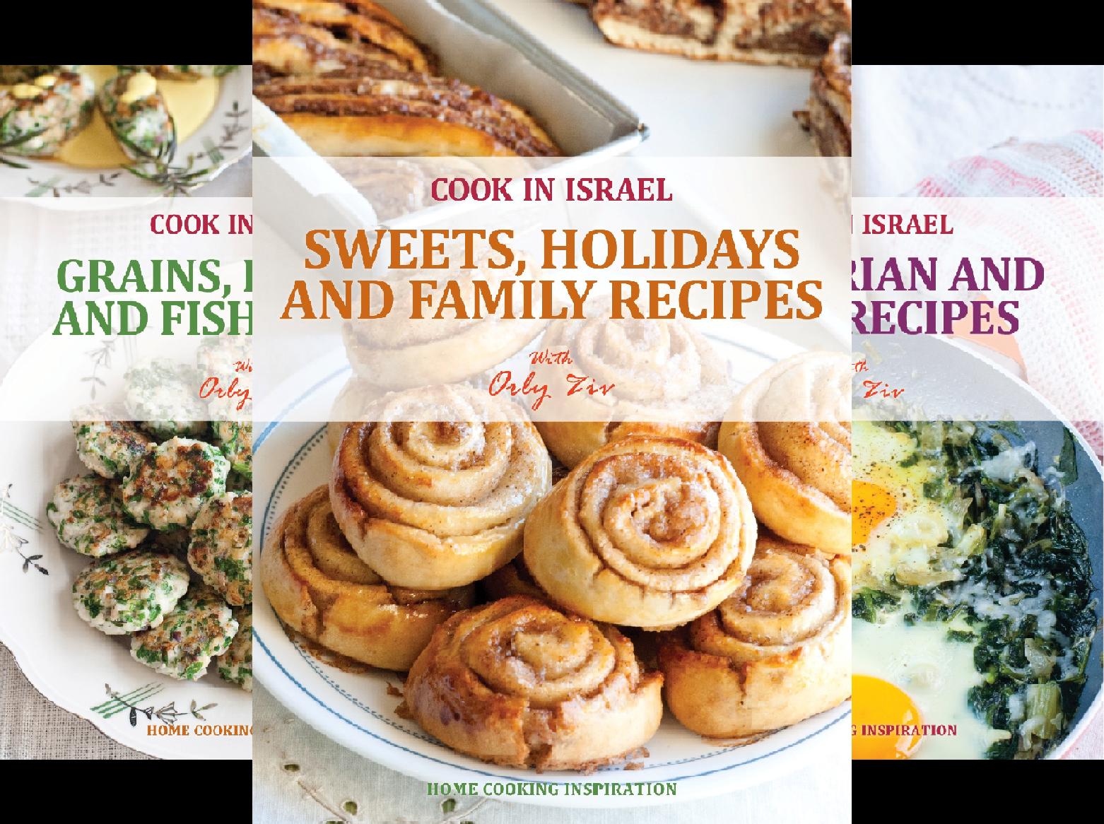 Cook In Israel - Kosher Recipes, Mediterranean Cooking (3 Book Series)