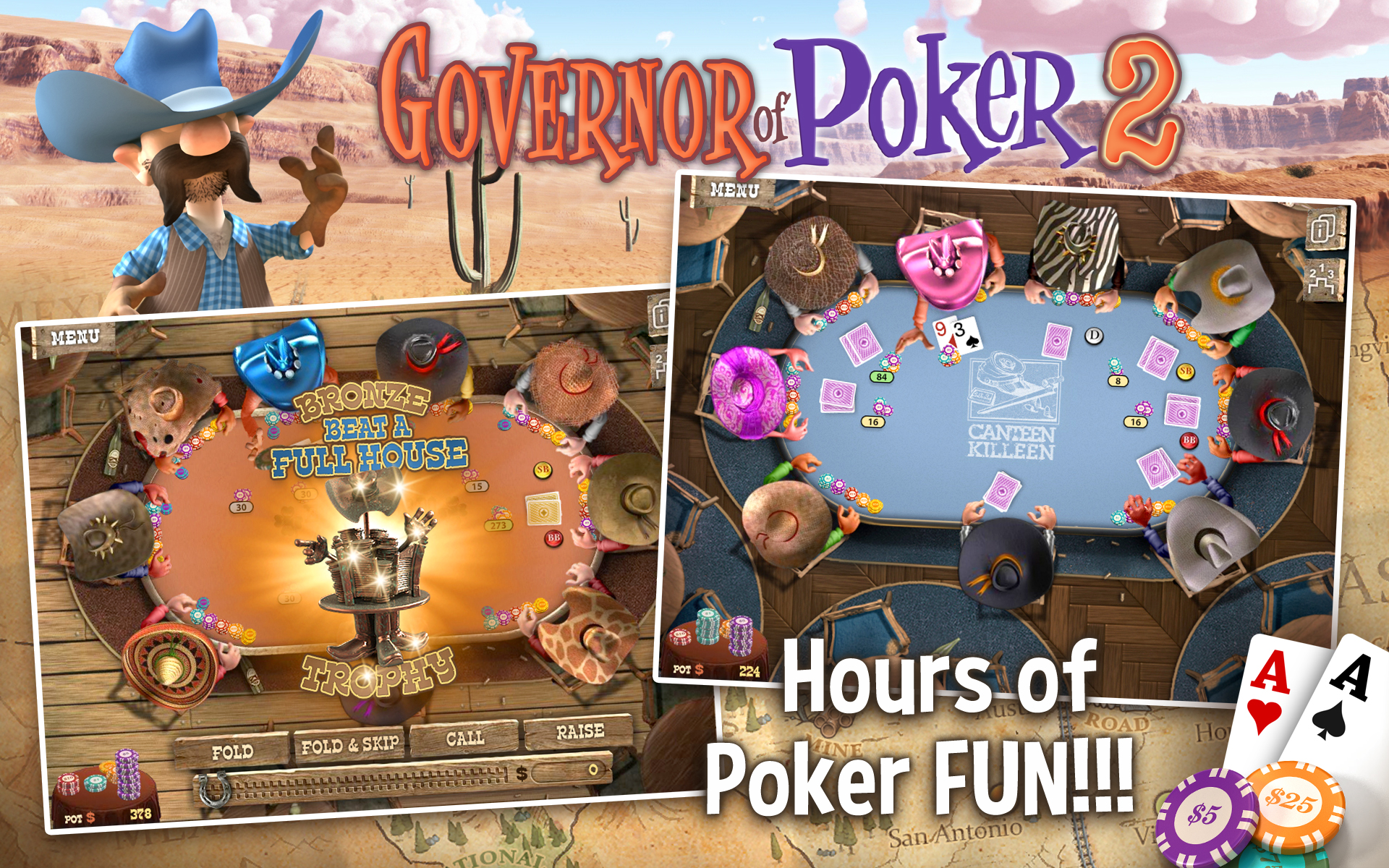 Governor Of Poker 2 Offline Poker  Amazon Co Uk  Appstore