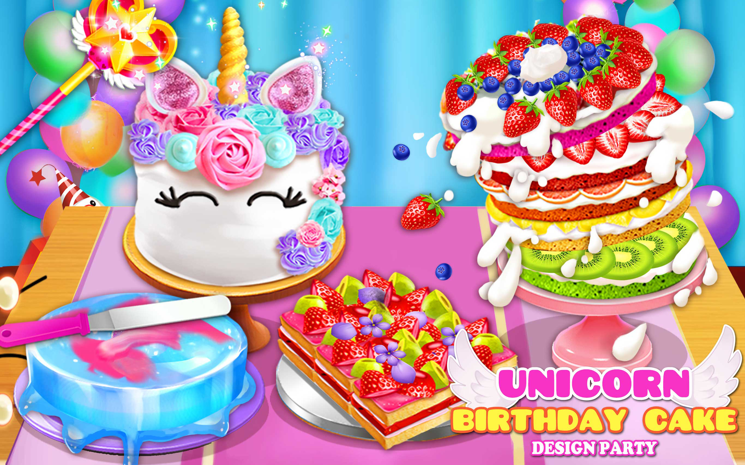 Birthday Cake Design Party Amazonde Apps Fur Android