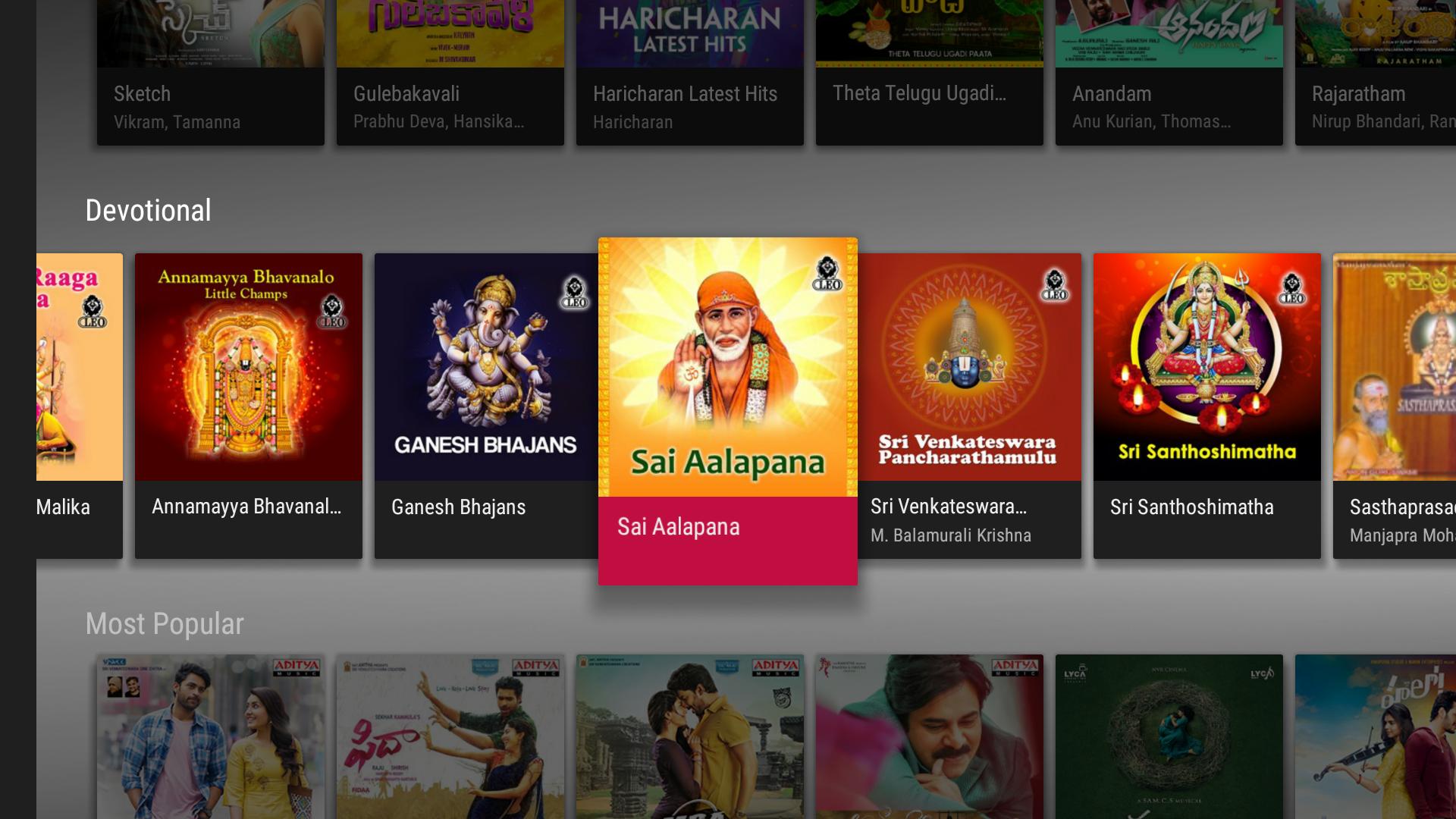 Raaga Hindi Tamil Telugu songs