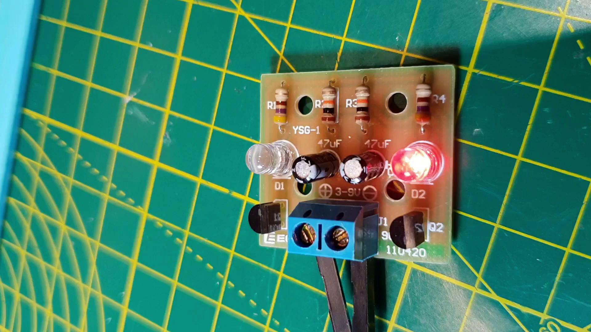Hiletgo 2pcs Led Flash Light Circuit Production Electronic Project Diy Suite Kits Module Board Set For Student Exercise Business