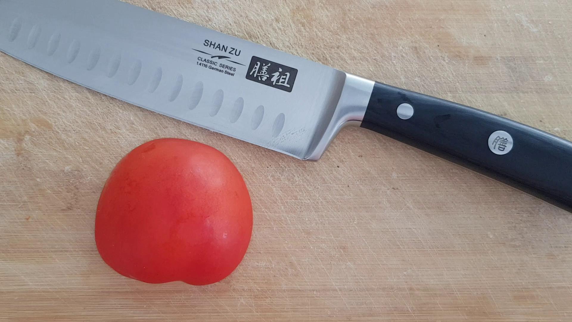 SHAN ZU Cuchillo Santoku Japones, Cuchillos de Cocina ...