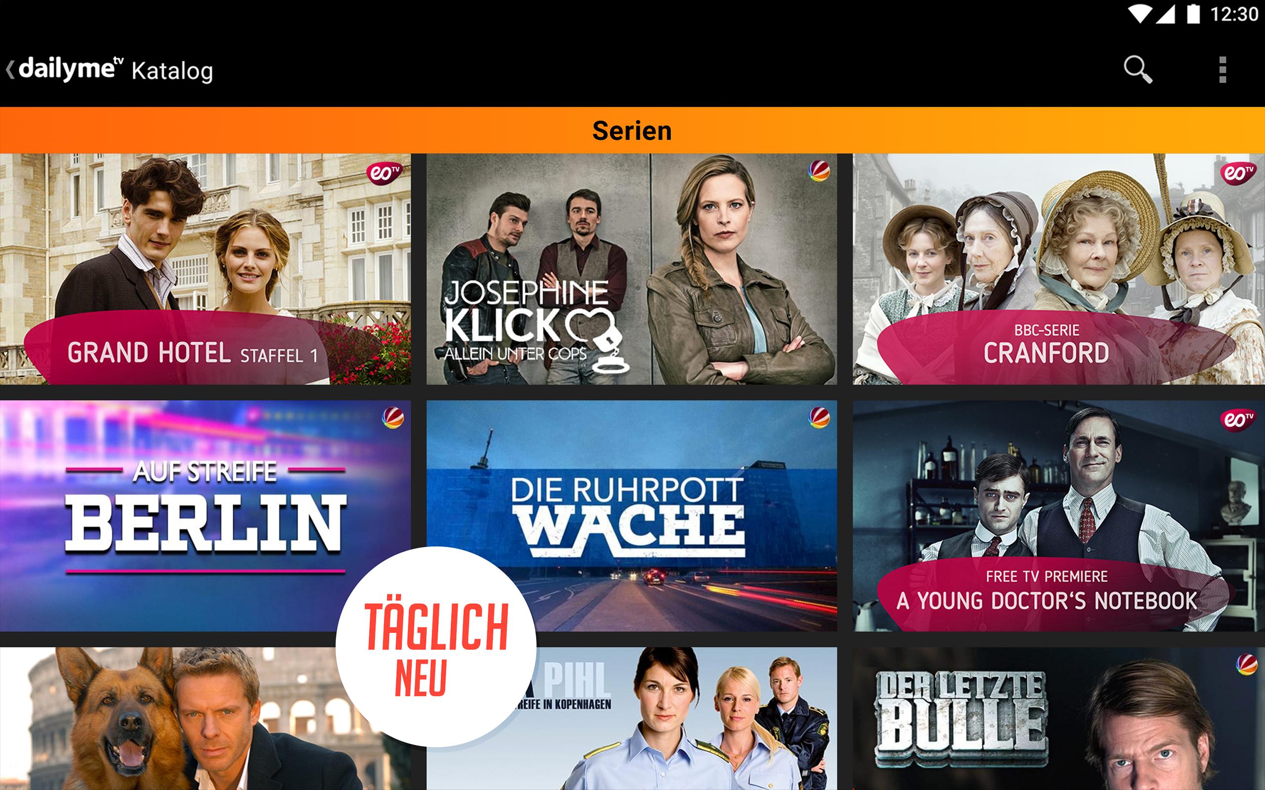 dailyme TV, Serien & Fernsehen - Serien, Filme, Shows Offline für ...