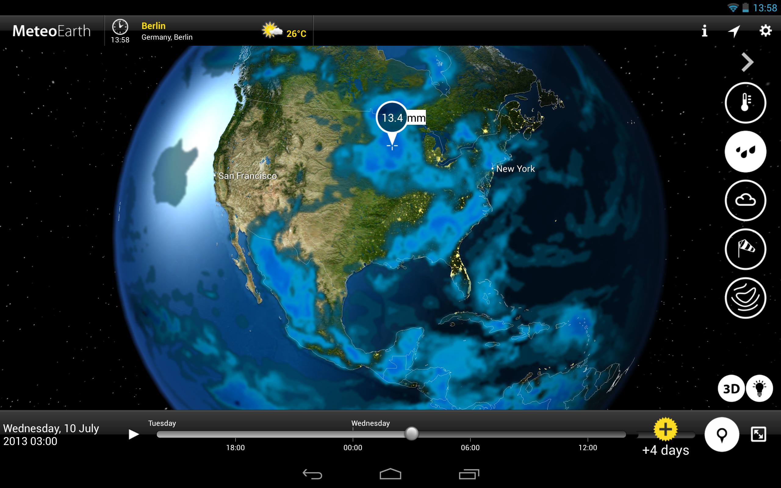 MeteoEarth Capture d'écran