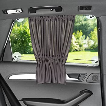 Auto Luxuria Universal Car Window SunShade Covers w// STRETCH-TECH - UV Protection For Your Baby // Toddler // Kids // Pets From Strong Sun Rays Fits Cars /& Most SUVs BONUS CAR SEAT TISSUE BOX HOLDER!