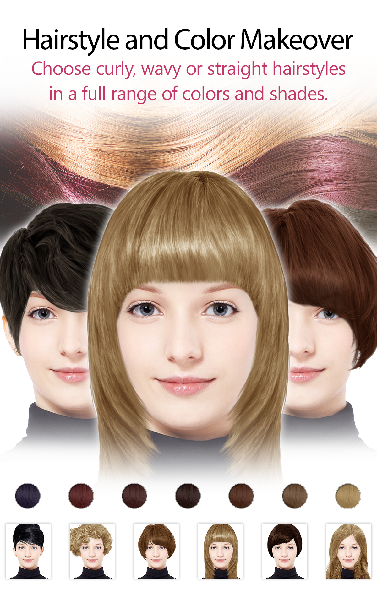 Hair Color Generator Free Image Collections Hair Coloring Ideas - Hair colour editor download