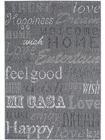 Pflegeleichter teppich  benuta In- & Outdoor Teppich Welcome Home Grau 120x170 cm ...