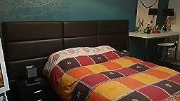 T/ête de lit king size Paquet de 4 Facile /à installer VANT En Velours Bleu Paon, 76cm de large Double Panneaux muraux dappoint rembourr/és