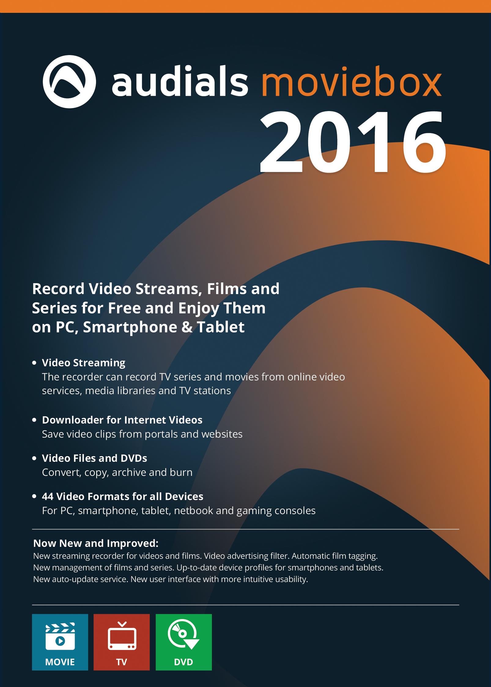 Audials Moviebox 2016: Das Tool zum kleinen Preis für Fans von Video-Unterhaltung aus dem Web [Download] -