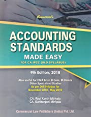 Commercial's Accounting Standards Made Easy for CA IPCC (Old Syllabus) (As Per Old Syllabus for November 2018/May 2019)