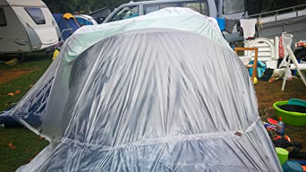Festnight Tent Tienda de Campaña Familiar para Camping (Tienda para 9 Personas Máximo) Verde-Aulz
