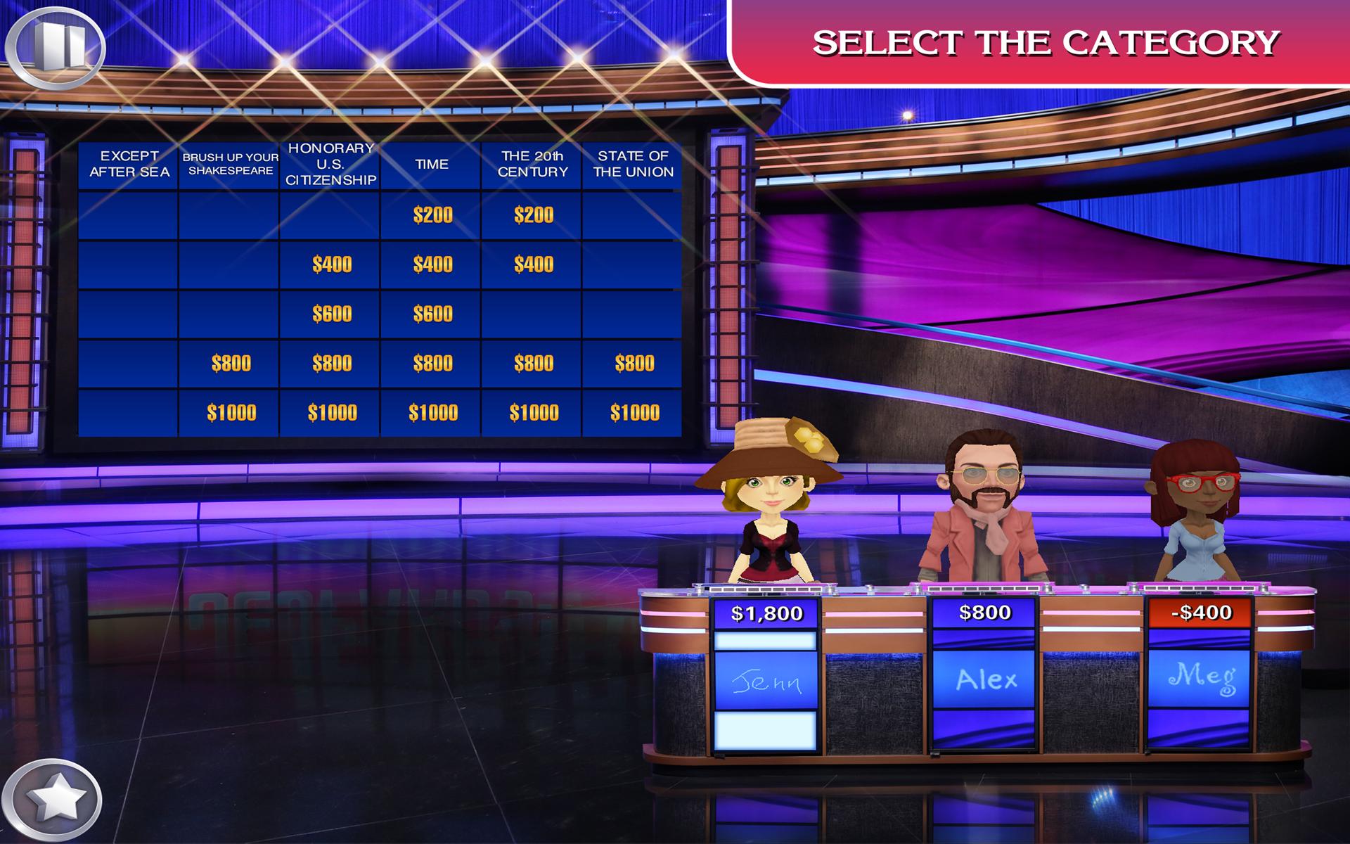 Jeopardy Spiel