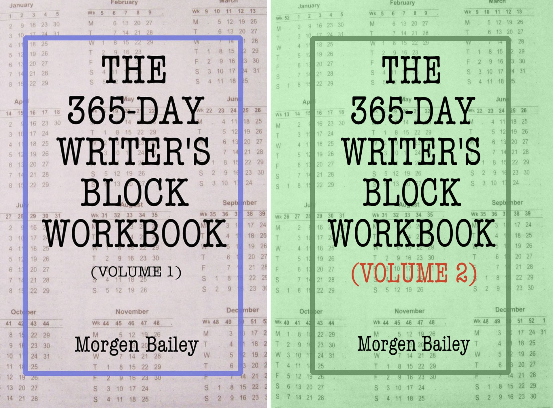 The 365-Day Writer's Block Workbook (2 Book Series)