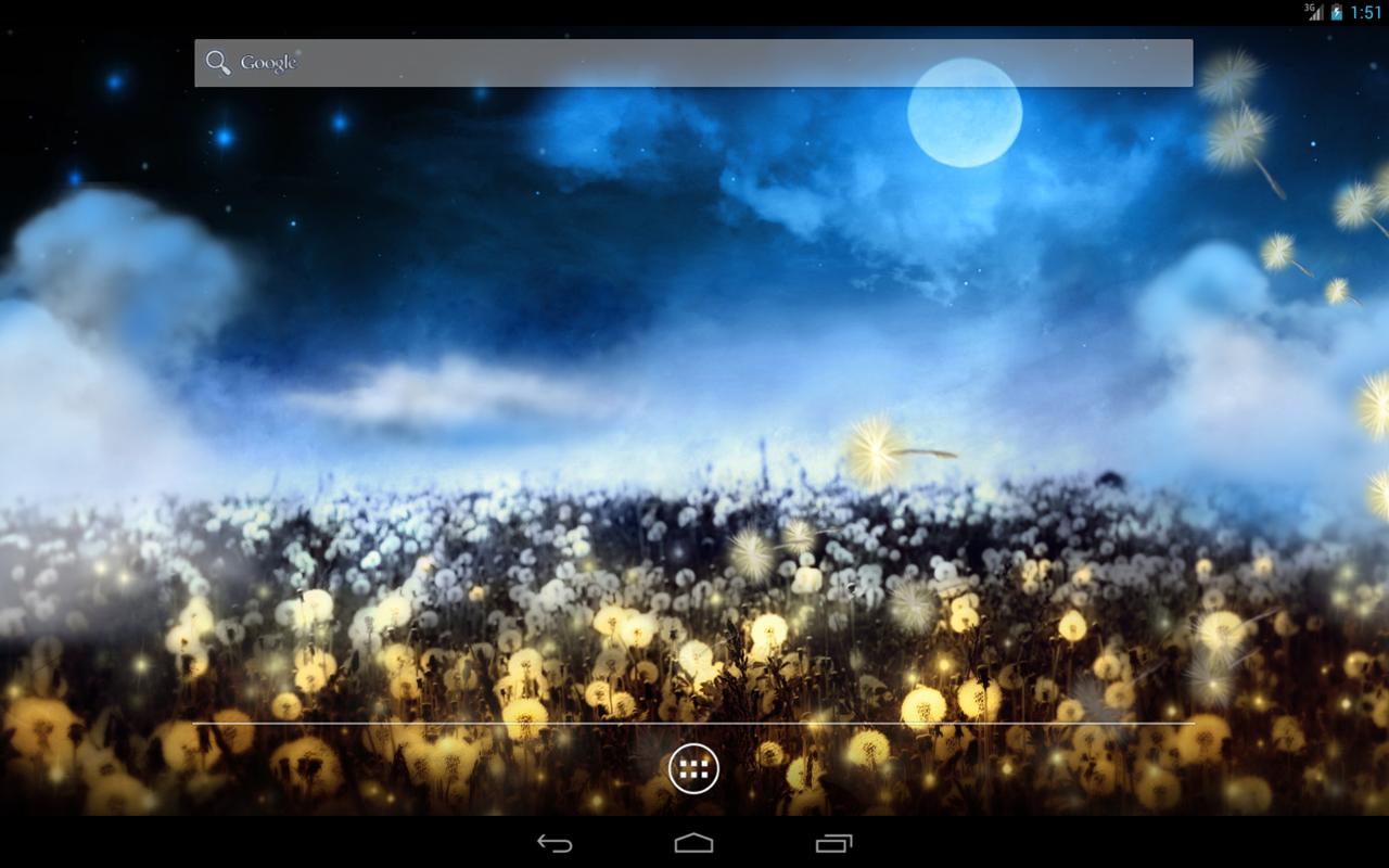 field of dandelions interactive live wallpaper