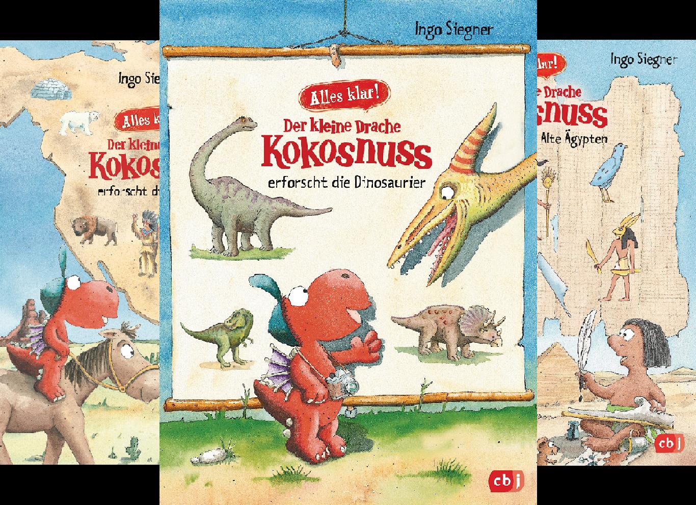 Der kleine Drache Kokosnuss erforscht. Die Dinosaurier (Reihe in 4 Bänden)