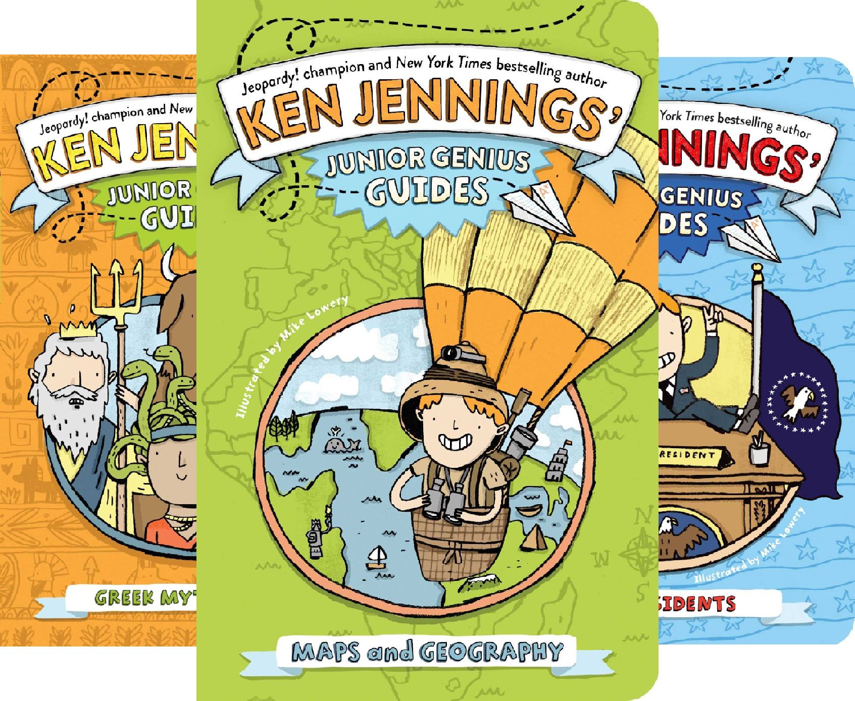 Ken Jennings' Junior Genius Guides Collection (3 Book Series)