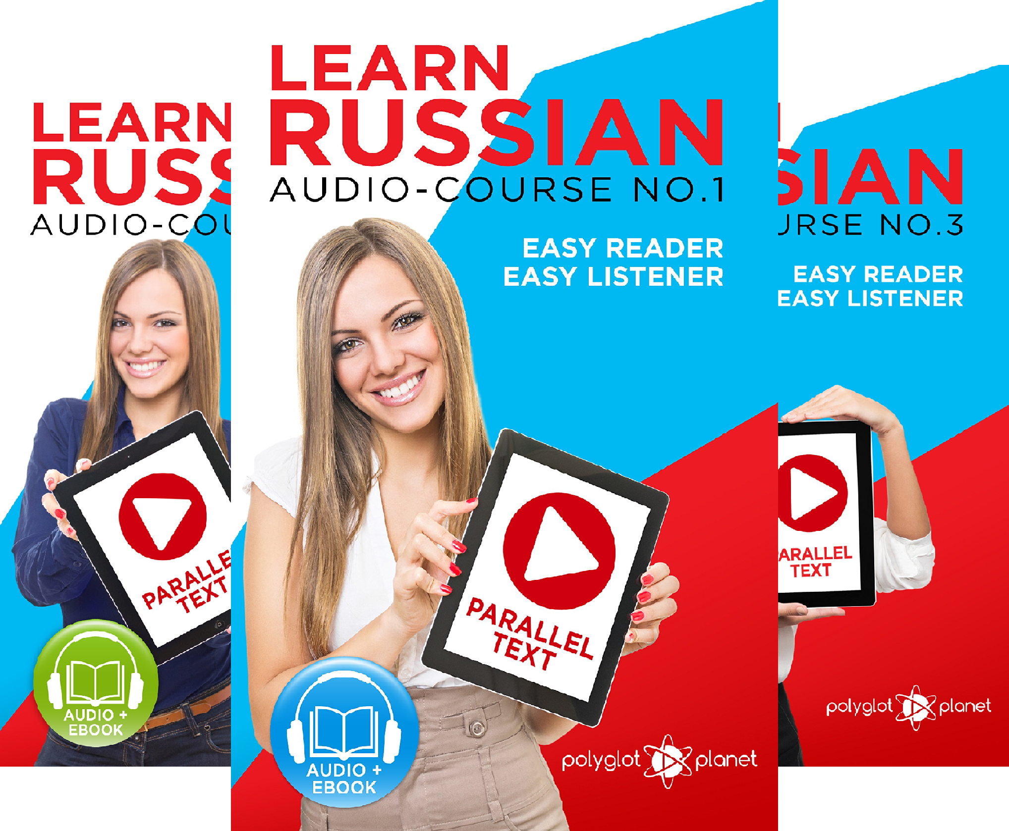 Russian Easy Reader | Easy Learning | Easy Audio (3 Book Series)