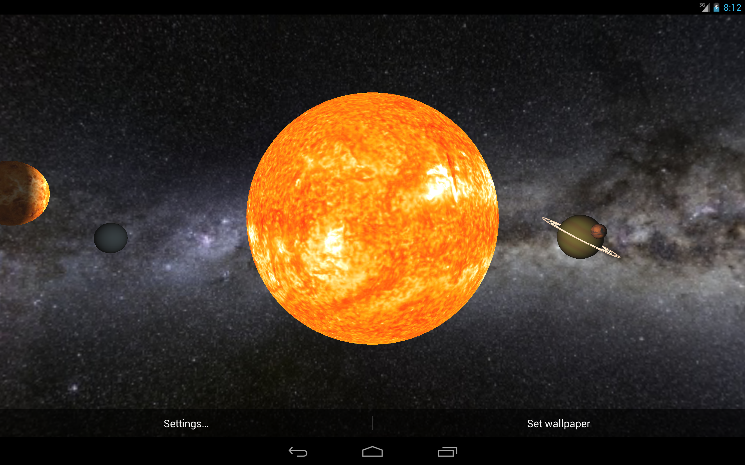 Solar System Live Wallpaper 3D: Amazon.co.uk: Appstore for ...