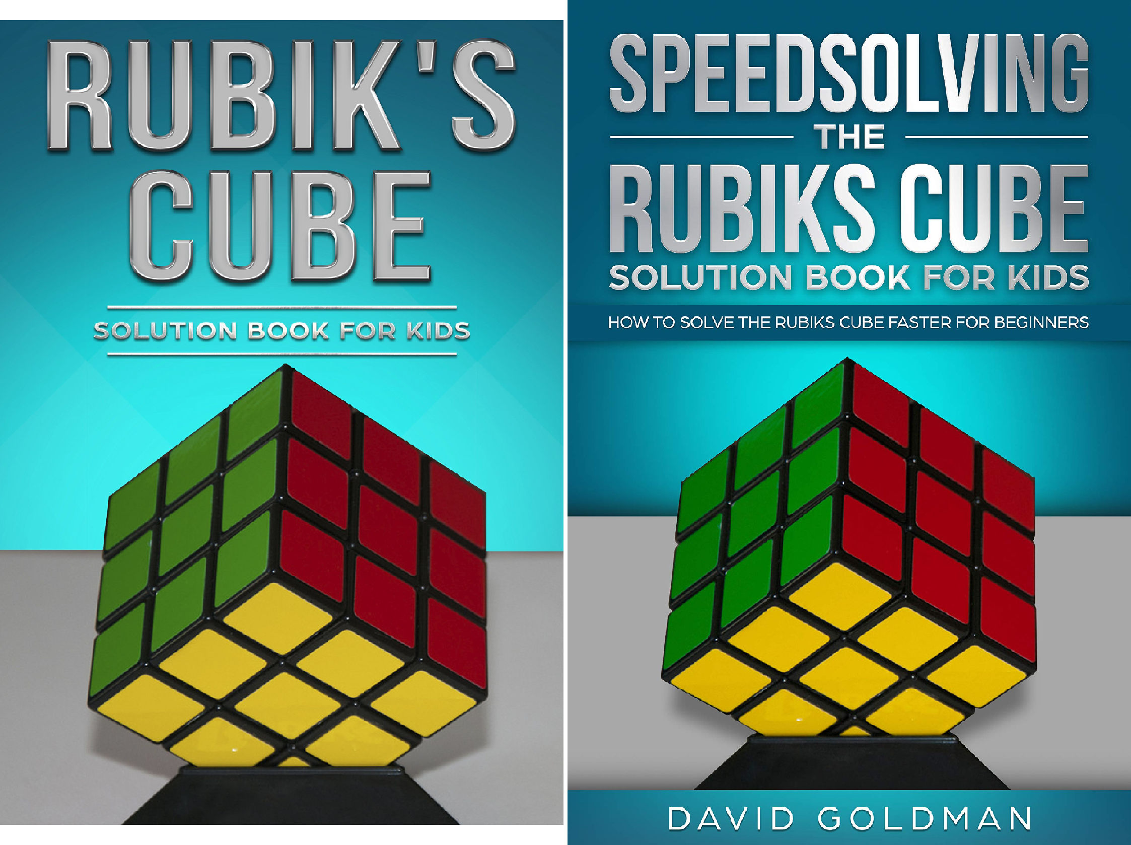 Rubiks Cube Solution Book For Kids (2 Book Series)