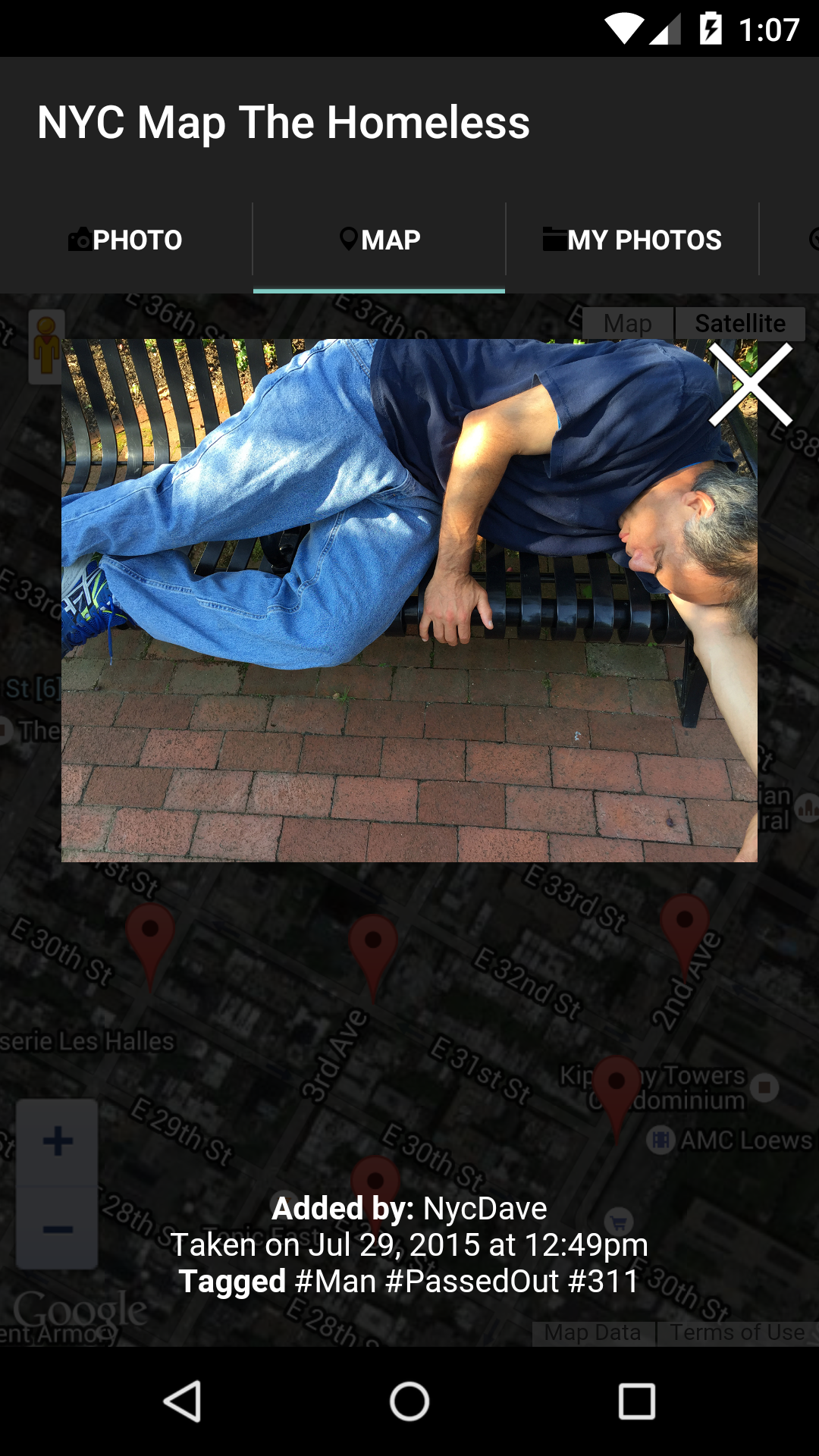 NYC Map The Homeless Amazoncouk Appstore For Android - Nyc map the homeless