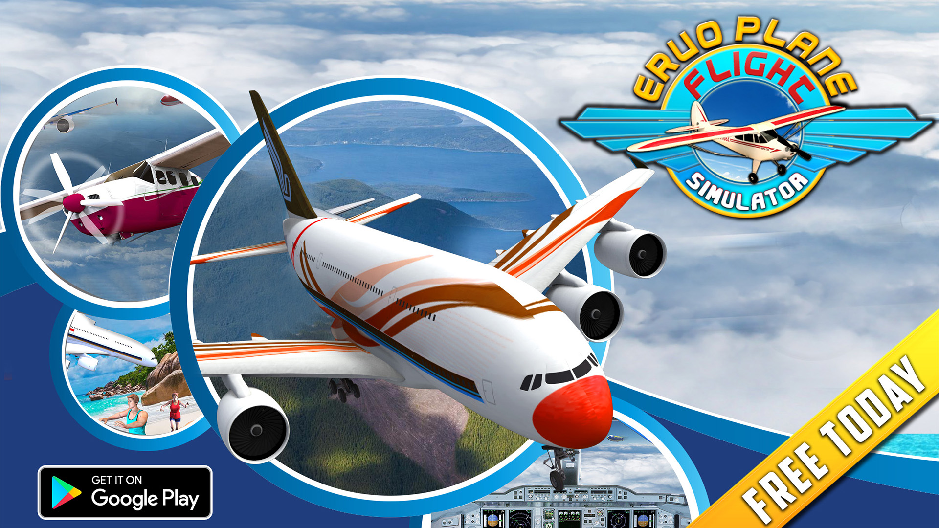Real Euro Plane Flight Simulator 2018: Amazon co uk