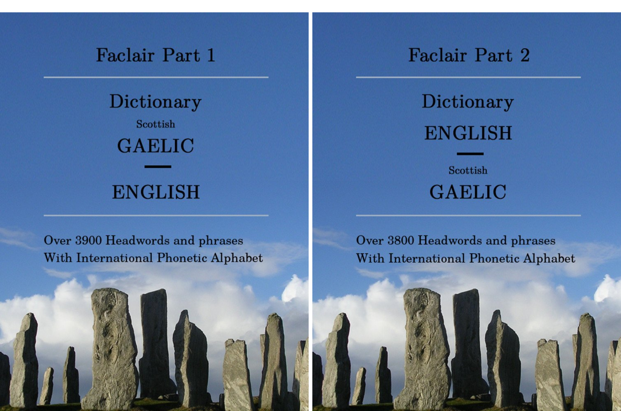 Faclair Dictionaries Scottish Gaelic (2 Book Series)
