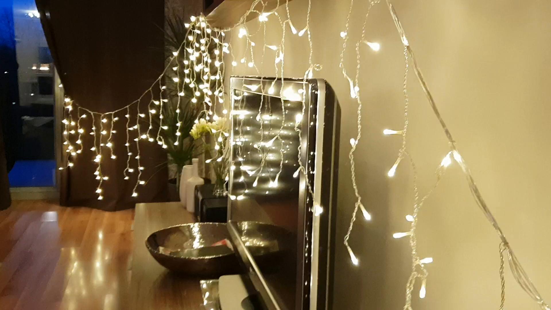 Weihnachtsdeko Lichter Innen.Buoceans 216 Led 5m Eisregen Eiszapfen Lichter Led Lichtervorhang