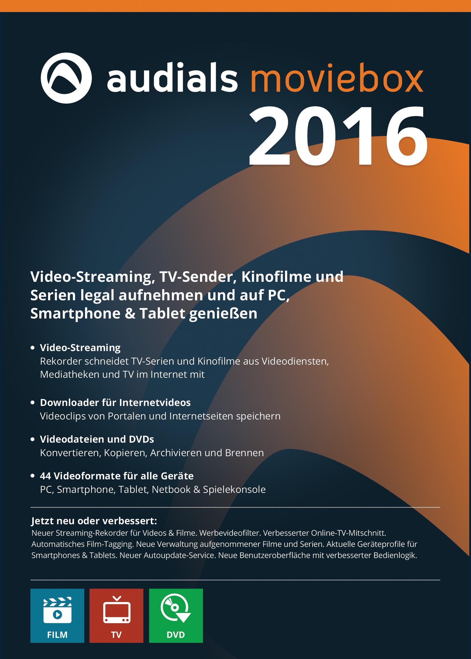 Audials Moviebox 2016: Das Tool zum kleinen Preis für Fans von Video-Unterhaltung aus dem Web [Download]