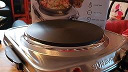 SUNAVO Hornillo Electrico Portatil Placa Cocina eléctrica una ...