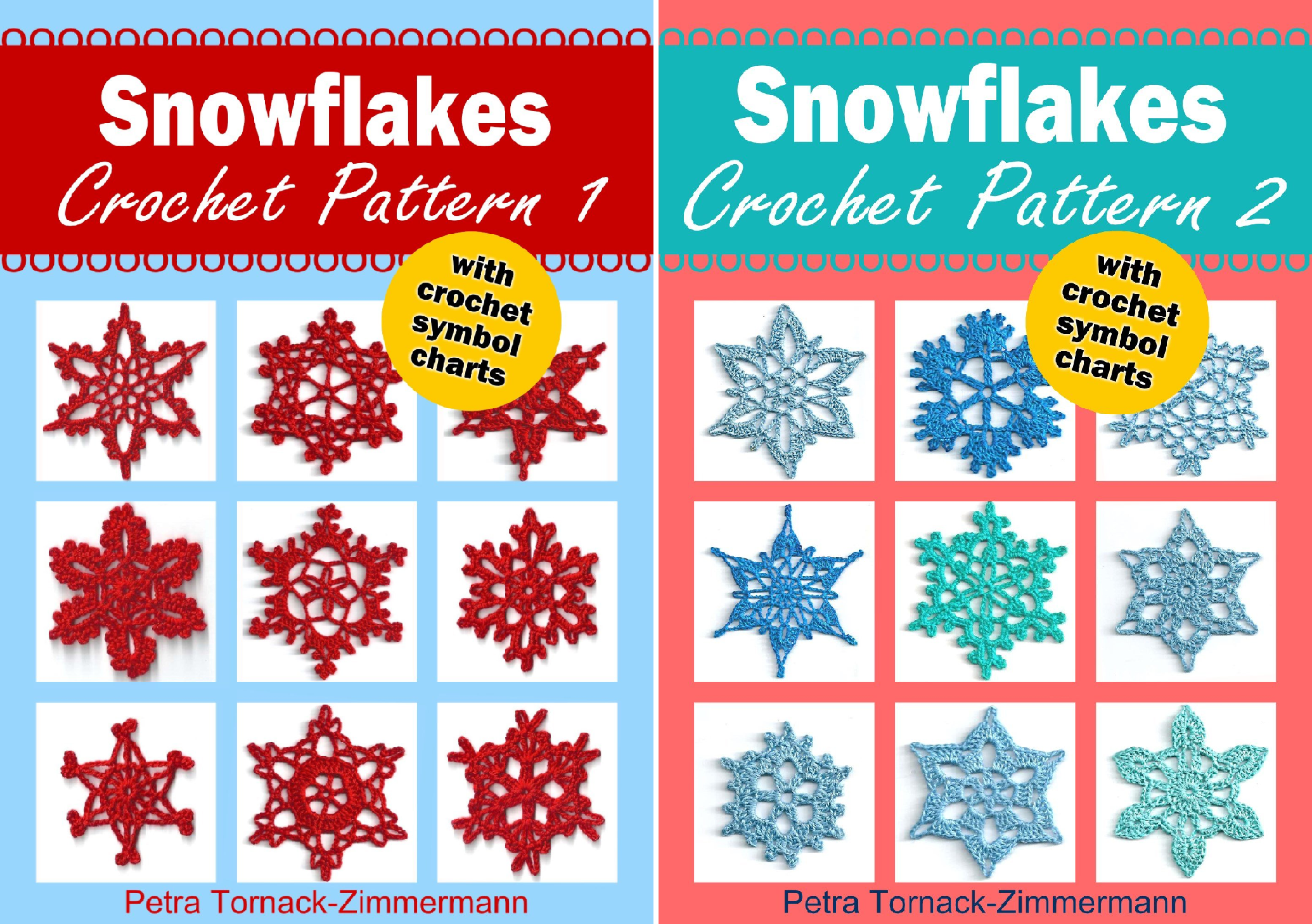 Snowflakes Crochet Pattern (2 Book Series)