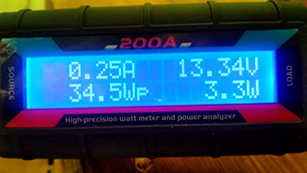 200a High Precision Power Analyzer Wattmeter Batterieverbrauch Leistungsüberwachung Mit Lcd Hintergrundbeleuchtung Für Rc Batterie Solar Windenergie Baumarkt