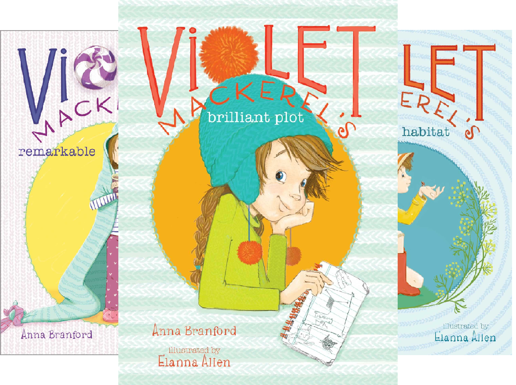 Violet Mackerel's Outside-the-Box Set: Violet Mackerel's Brilliant Plot, Violet Mackerel's Remarkable Recovery, Violet Mackerel's Natural Habitat, Violet Mackerel's Personal Space (4 Book Series)