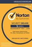 Norton Security Deluxe (5 Geräte - PC, Mac, Smartphone, Tablet) - Download [Online Code]