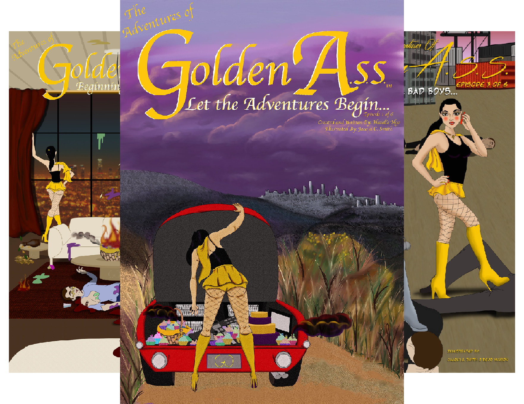 The Adventures of Golden A.S.S. (8 Book Series) Revo Bundle