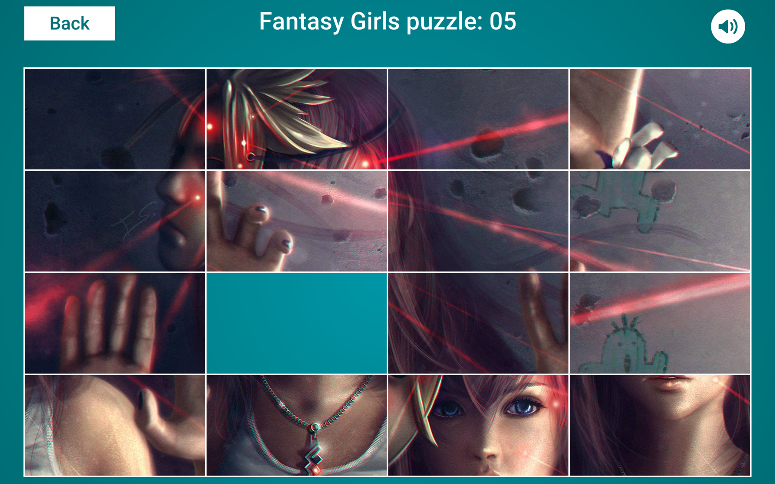 Fantasy Girls Sliding Jigsaw Screenshot