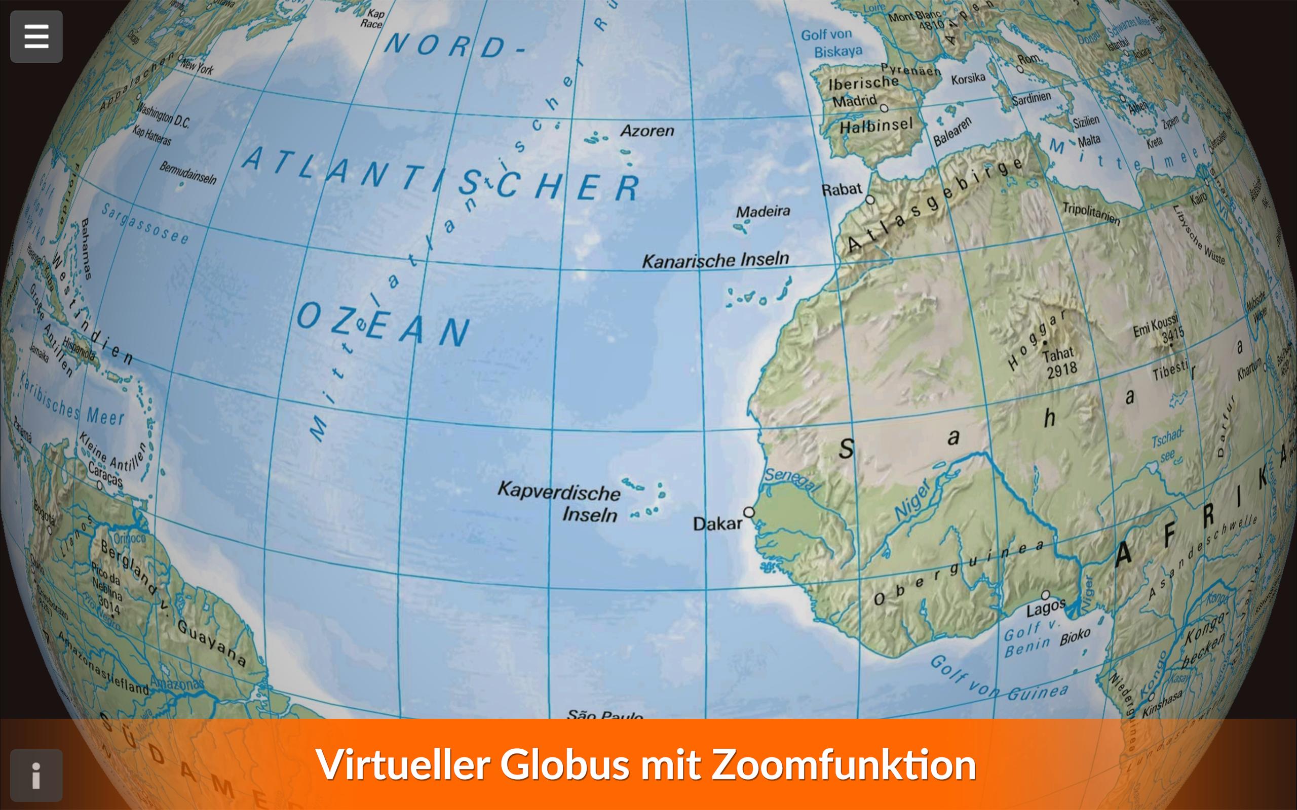 Azoren Karte Weltatlas.Kosmos Weltatlas Amazon De Apps Für Android